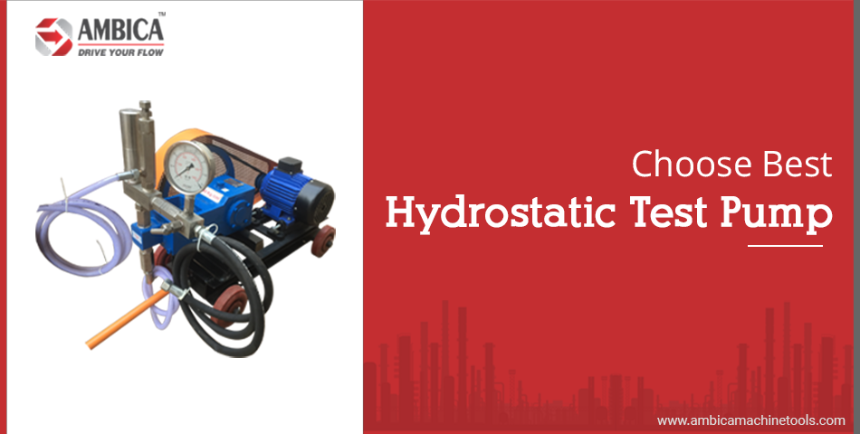 Choose hydrostatic test pump